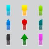 Set wiele kolorowy faborek ilustracji