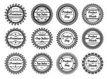 Set wiele różni znaczki odizolowywający na białym tle ilustracji