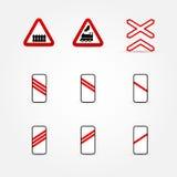 Set wiele ruch drogowy znaki ilustracji