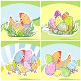 Set Wielkanocni tła Zdjęcia Royalty Free
