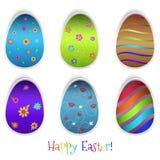 Set Wielkanocni jajka Obraz Royalty Free