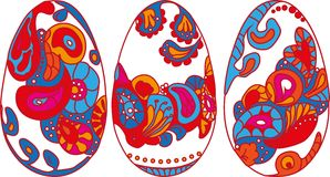 Set Wielkanocni jajka Fotografia Royalty Free