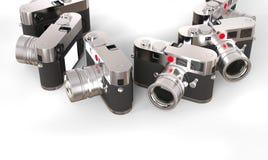 Set wielkie retro projektować fotografii kamery zdjęcia royalty free