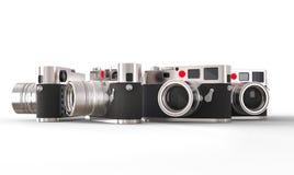 Set wielkie retro projektować fotografii kamery fotografia stock