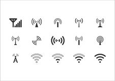 15 set wifi icon. Wifi icon, vector, available png file Royalty Free Stock Photos
