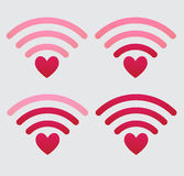 Set of wifi icons Royalty Free Stock Photo