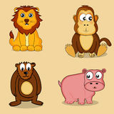 Set of wild animals. Stock Images