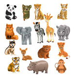 Set of wild animals