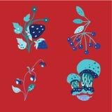 Summer color doodle2 vector illustration