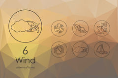 Set of wind icons Stock Image