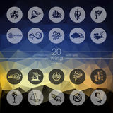 Set of wind icons Royalty Free Stock Images