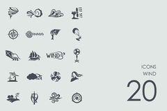 Set of wind icons Royalty Free Stock Image