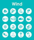 Set of wind simple icons Royalty Free Stock Photography