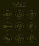 Set of wind simple icons Stock Images
