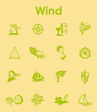 Set of wind simple icons Stock Photos