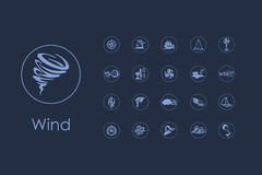 Set of wind simple icons Stock Image