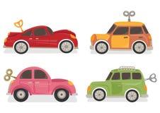 Set of Wind Up Car Toys stock illustration
