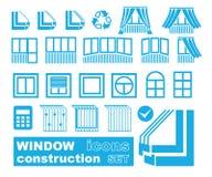 Set of window  icons Stock Photo
