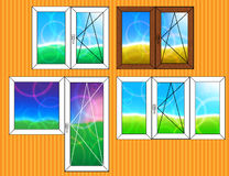 Set of window templates Royalty Free Stock Photo