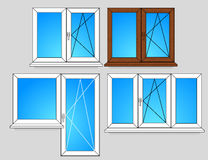 Set of window templates Stock Photography