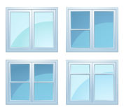 Set of windows Stock Photo