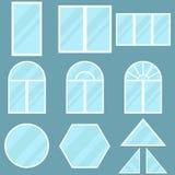 A set of windows. Flat design, vector illustration, vector royalty free illustration
