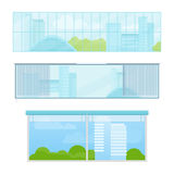 Set of Windows Vector Illustrations In Flat Style. Royalty Free Stock Photo