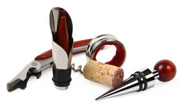 Set of wine accessories Royalty Free Stock Photos