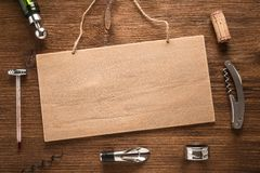 Set of wine accessories Royalty Free Stock Image