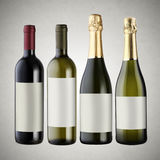 Set of wine bottles Royalty Free Stock Image