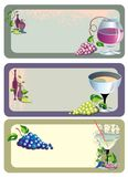 Set of wine card design Royalty Free Stock Image