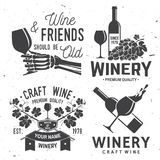 Set of winer company badge, sign or label. Vector illustration. Royalty Free Stock Photography