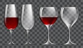Set of wine glasses Stock Image