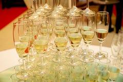 Set of wine glasses Stock Photos