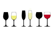 Set of wine glasses Royalty Free Stock Photo