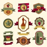 Set of wine labels, badges and elements Royalty Free Stock Image