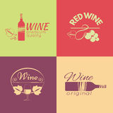 Set of wine labels, badges and logos for design. Vector illustration vector illustration