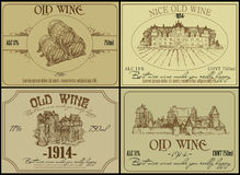 Set of wine labels Stock Photography