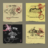 Set of wine labels Stock Photos