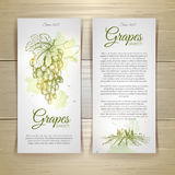 Set of wine labels. Royalty Free Stock Image