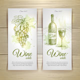 Set of wine labels. Stock Images