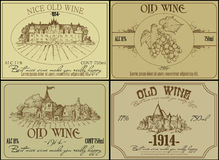 Set of wine labels Stock Image