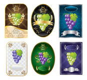 Set of wine labels vector Stock Images