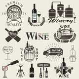 Set of wine signs, badges Royalty Free Stock Images