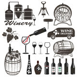 Set of wine signs, badges Stock Images