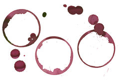 Set of Wine stains Royalty Free Stock Images