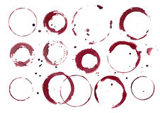 Set of wine stains. Vector set of wine stains stock illustration