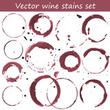 Set of Wine Stains. Vector set of wine stains vector illustration