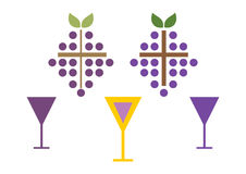Set of wine symbols Stock Photography