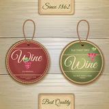 Set of wine vintage labels Stock Image